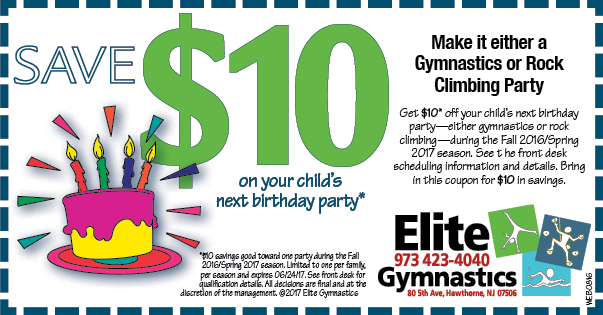 birthday party coupon